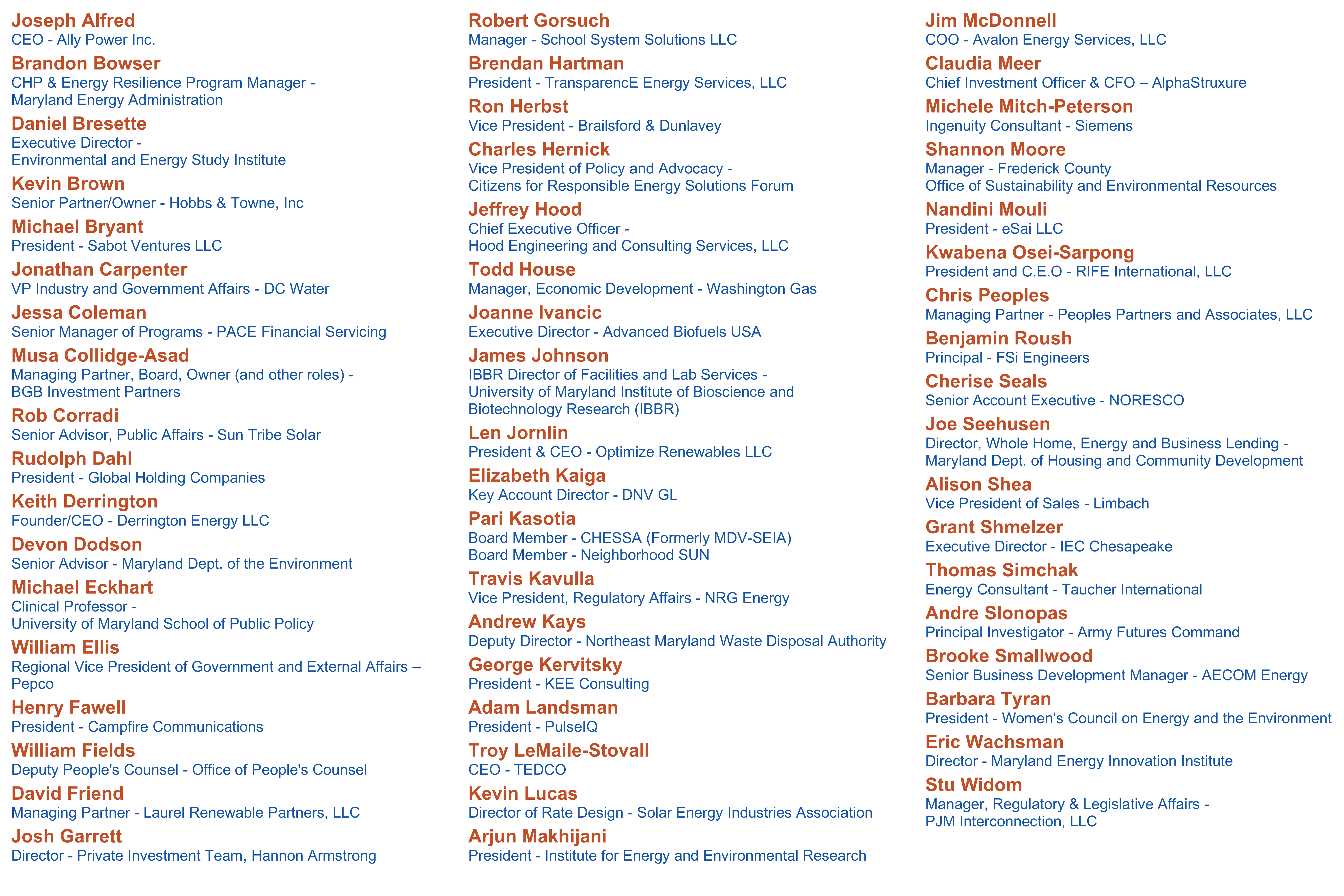 Advisory Council Roster 03.31.2021